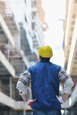 hard worker: bel ritratto duro lavoratore persone presso il sito concstruction Archivio Fotografico