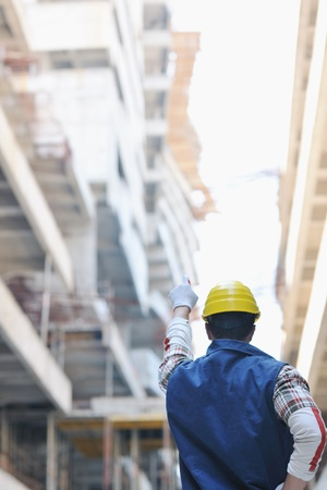 handsome hard worker people portrait at concstruction site Stock Photo - 10540776