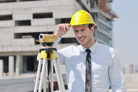 business man Architect engineer manager at construction site project Stock Photo - 10665803