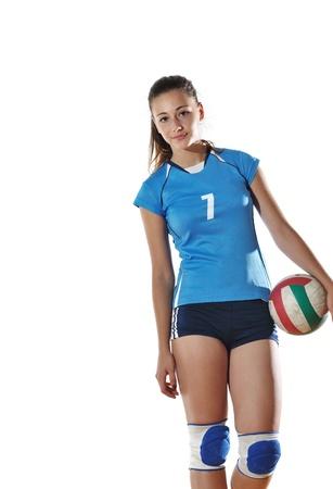 pelota de voley: el deporte de voleibol juego con joven neautoful oslated onver fondo blanco Foto de archivo