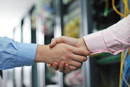 group of young business people it engineer in network server room solving problems and give help and support Stock Photo - 11023164
