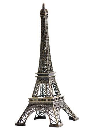 Touring: paris eiffel tower modelu samodzielnie na białym tle w studio