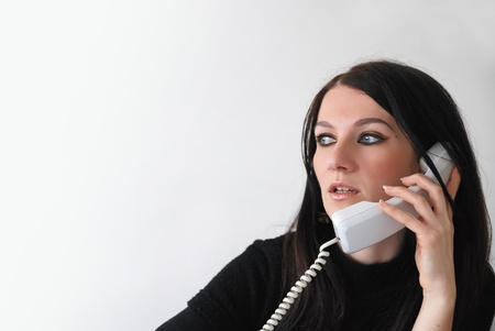 information technology law: business woman Stock Photo