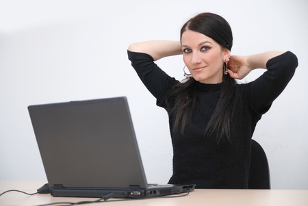 young woman with laptop Stock Photo - 11516204