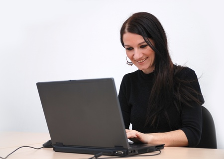 young woman with laptop Stock Photo - 11516198
