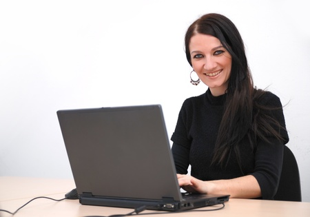 young woman with laptop Stock Photo - 11516200