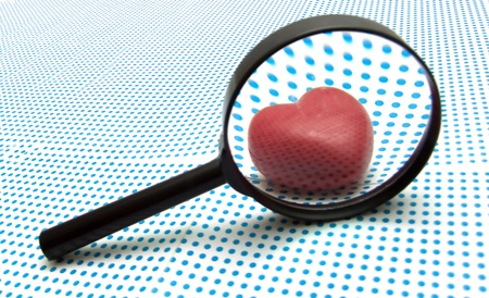 true love: magnifying glass Stock Photo