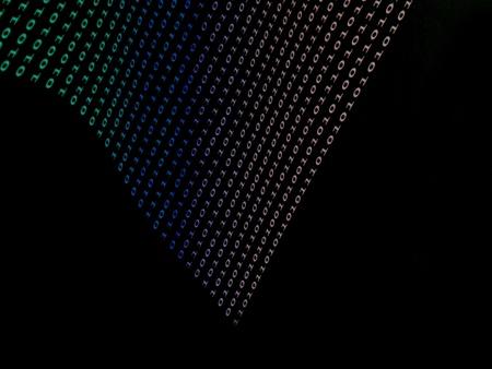 descriptor: black binary  numbers on dark background