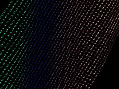 rolodex: black binary  numbers on dark background