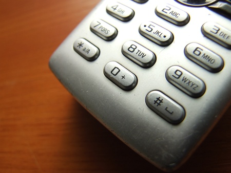 cellphone keypad closeup photo