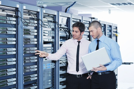 group of young business people it engineer in network server room solving problems and give help and support Stock Photo - 11448760