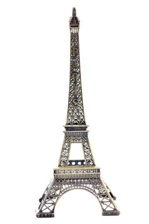 paris eiffel tower model isolated on white background in studio photo
