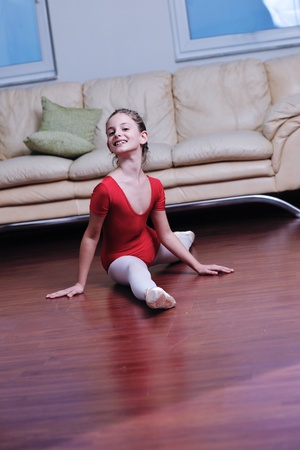 leotard: ballet girl exercise and learn at home