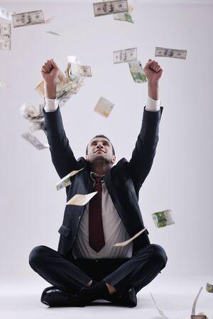 Business man holding money Stock Photo - 12303808