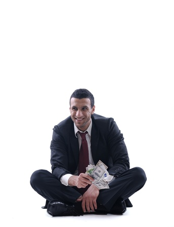Business man holding money Stock Photo - 12303814
