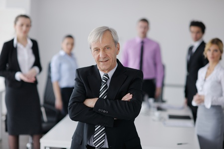business people  team  at a meeting in a light and modern office environment. Stock Photo - 12565223