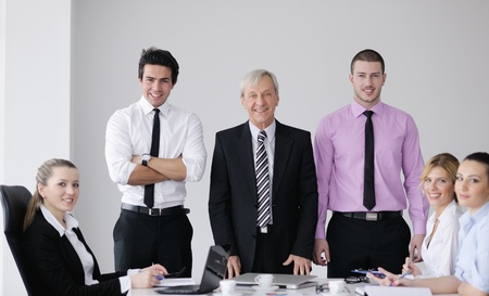 business people  team  at a meeting in a light and modern office environment. Stock Photo - 12565170