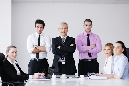 business people  team  at a meeting in a light and modern office environment. Stock Photo - 12565178