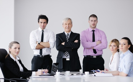 business people  team  at a meeting in a light and modern office environment. Stock Photo - 12565194