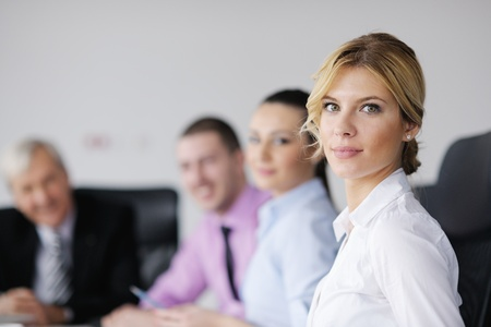 business people  team  at a meeting in a light and modern office environment. Stock Photo - 12565182