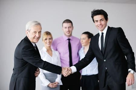 business people  team  at a meeting in a light and modern office environment. Stock Photo - 12565209