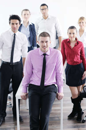 Confident young business man attending a meeting with his colleagues Stock Photo - 12565152