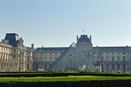 france louvre history  museum in paris at day and clear sky