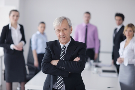 office environment: business people  team  at a meeting in a light and modern office environment