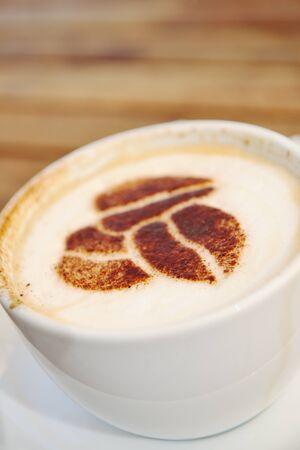 capuchino: hot Coffee capuchino drink beverage Stock Photo