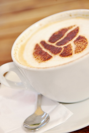 hot Coffee capuchino drink beverage photo