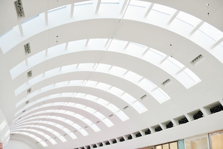 Interior of a modern shopping mall center