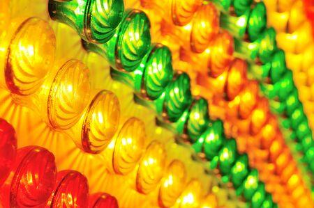 light show background in luna park photo