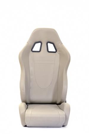 asiento coche: carreras de Auto Sport asiento aislado en fondo blanco Foto de archivo