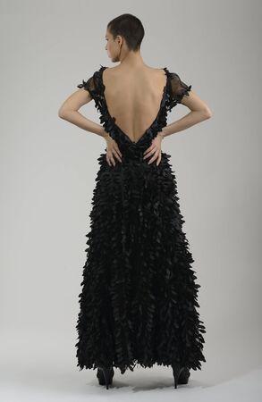 elegant woman in  fashionable  stylish dress posing in the studio Stock Photo - 13793487