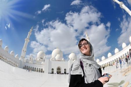 islamic prayer: sheikh zayed mosque, abu dhabi, uae, middle east