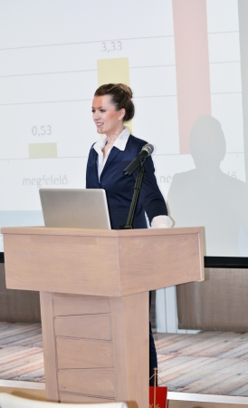 business people group at meeting seminar presentation in brigt conference room Stock Photo - 14081782