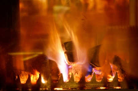 abstract fireplace flame background at home Stock Photo - 14081856