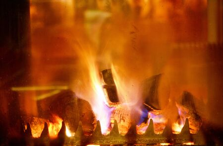 abstract fireplace flame background at home Stock Photo - 14081821