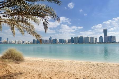 abu dhabi: modern arabic City Abu Dhabi  Landscape and cityscape panorama Stock Photo