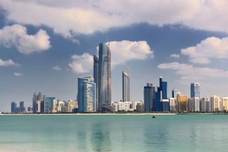dubai city: modern arabic City Abu Dhabi  Landscape and cityscape panorama Stock Photo