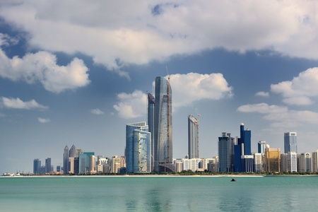 modern arabic City Abu Dhabi  Landscape and cityscape panorama photo