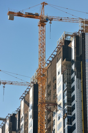 Construction site with crane and building Stock Photo - 14132209