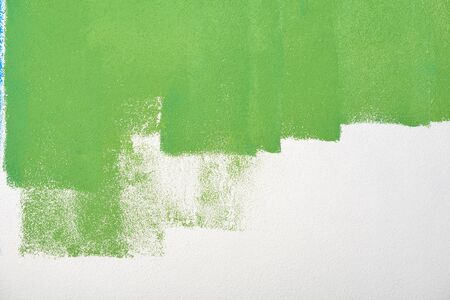 paint wall color background blue green  real texture isolated on white with copy space Stock Photo - 14173733