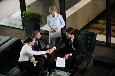 business people  team  group  on a meeting have success and make deal Stock Photo - 15276773