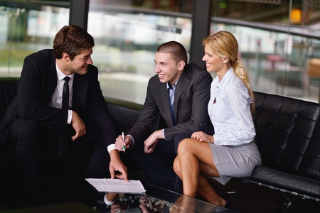 hotel worker: business people  team  group  on a meeting have success and make deal Stock Photo