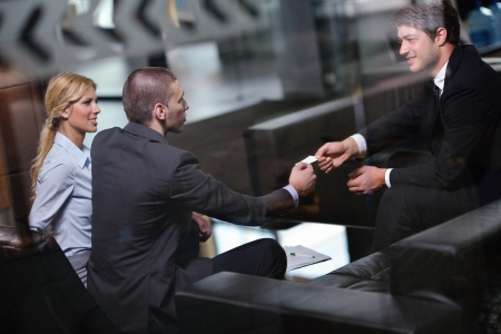 business people  team  group  on a meeting have success and make deal Stock Photo - 15300967