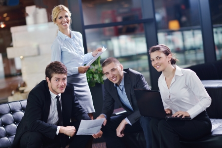 real business: business people  team  group  on a meeting have success and make deal Stock Photo