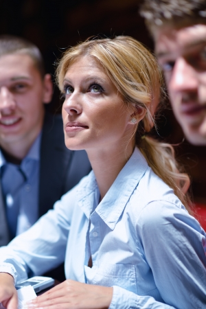 Group of happy young  business people in a meeting at office Stock Photo - 15300938