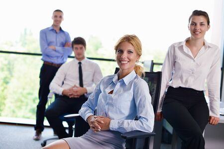 business people  team  group  on a meeting have success and make deal Stock Photo - 15403105