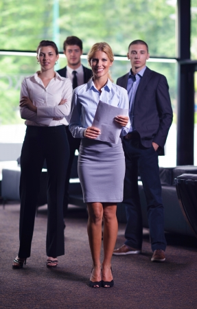 business people  team  group  on a meeting have success and make deal Stock Photo - 16112631